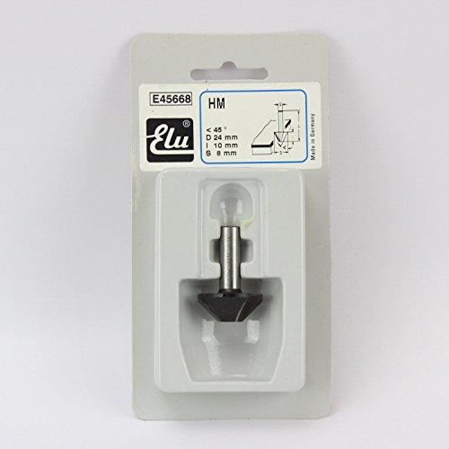 Elu Fräsbohrer E45668TCT 45° 8mm, Schaft 24mm, I:10 mm, für Cutter, Kantenhobel, Nutfräsen