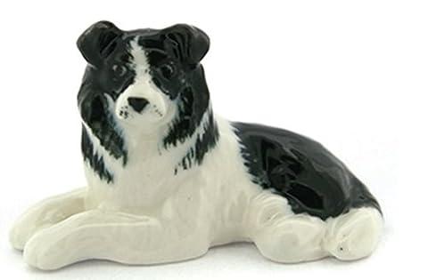 3 D Ceramic Toy Border Collie Dog Dollhouse Miniatures Free Ship