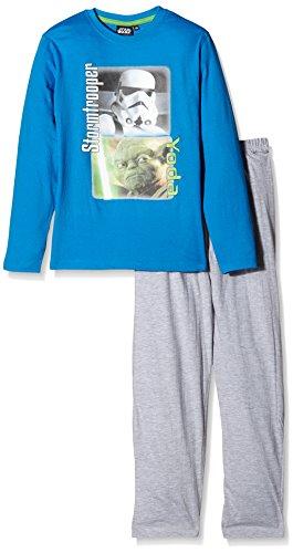 Star Wars Jungen Zweiteiliger Schlafanzug Stormtrooper/Yoda, Blau (Königsblau), 6 Jahr