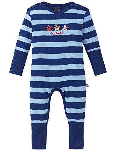 Schiesser Baby - Jungen Zweiteiliger Schlafanzug Capt´n Sharky Baby Anzug mit Vario, Gr. 62, Blau (blau 800)