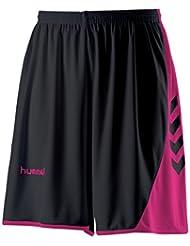 Pantalón corto para mujer Hummel Hoop, color amarillo y negro, tamaño XXXL