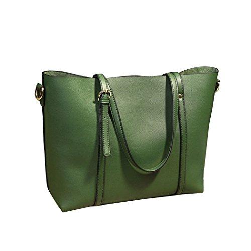 Vbiger Borse Tote Casuale Borsetta alla moda Borsa a tracolla chic Daypack di grande capacità per donne verde