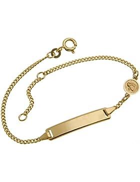 Gravurarmband, ID-Armband für Babys und Kinder mit Schutzengel - 333 Gold, Länge wählbar von 12-16cm - GRAVUR...