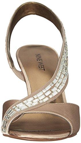Nine West Giulia Satin Sandales à talons Light Gold