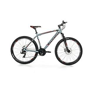 "Moma - Bicicleta Montaña Mountainbike 27,5"" BTT SHIMANO, aluminio, doble disco y suspensión, L (1,75-1,84m)"