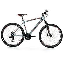 "Moma Bikes Bicicleta Montaña Mountainbike 27,5"" BTT SHIMANO 24 vel. Aluminio, frenos de disco y suspension, L (1,75-1,84m)"