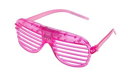 Rosa Blinkende LED Shutter Style Brille Glow Slotted Plastic Leuchten Shades Brillen Sonnenbrillen Für Musikkonzerte Crazy Parties Halloween Rave