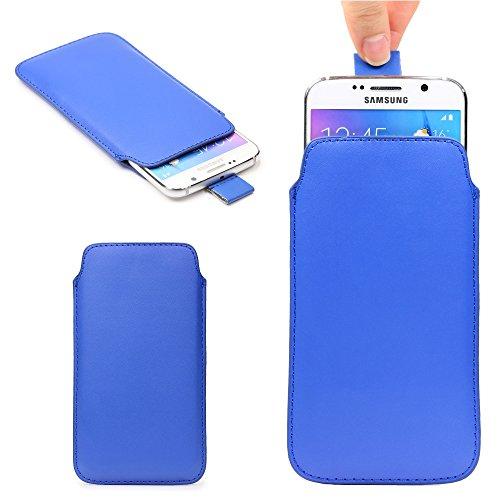 Original Urcover® Universal Schutzhülle [DEUTSCHER FACHHANDEL] Hülle Schale Pull Tab Etui Cover case Galaxy S7 Edge, S6 Edge Plus, iPhone 6 / 6s Plus Dunkel Blau