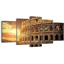 Cuadro sobre lienzo - 5 piezas - Impresión en lienzo - Ancho: 160cm, Altura: 85cm - Foto número 2966 - listo para colgar - en un marco - EA160x85-2966