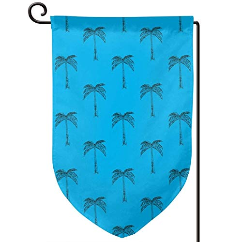 ess Pattern Simple of Palm Home Sweet Home Garden Flag Vertical Double Sided Spring Summer Yard Outdoor Decorative 12.5 X 18 Inch ()