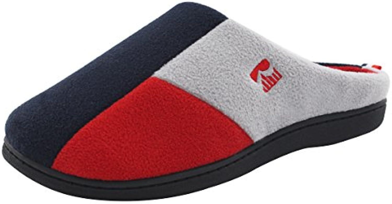 RockDove - Zapatillas de estar por casa de forro polar para hombre Tri-Color