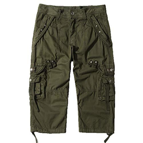 Shorts Herren Reißverschlusstaschen Pure Farbe Draußen Strand Beiläufig Arbeit Cargo Hose Mc Jacke