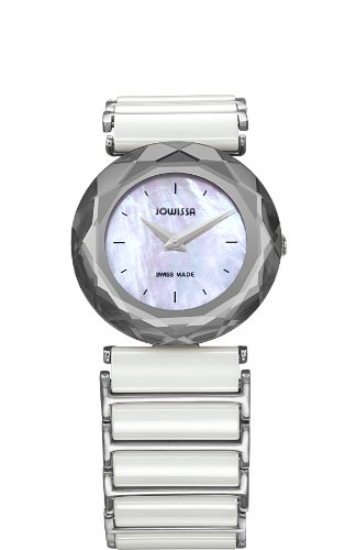 Jowissa Safira 99 Women's Quartz Watch with Mother of Pearl Dial Analogue Display and White Ceramic Bracelet J1.002.M