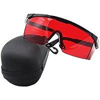 ANZESER LB-FT lunettes de sécurité laser avec temple réglable, lentille  rouge, cadre d7bba5254b62