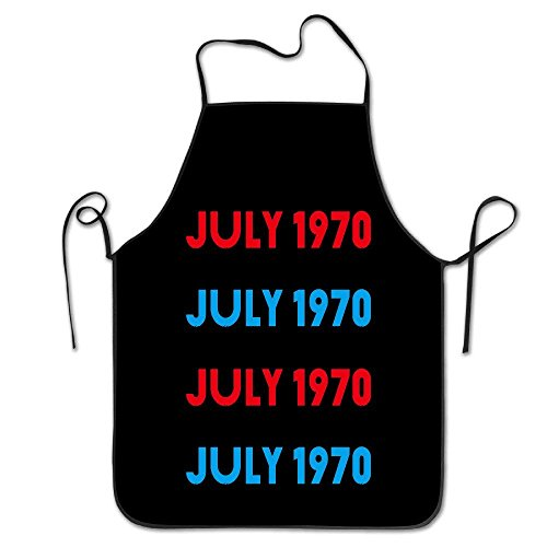 fengxutongxue Bib Apron for Women Men Adults Waterproof Natural July 1970 Date of Incorporation-01 Cute (1970 Mens Hair)