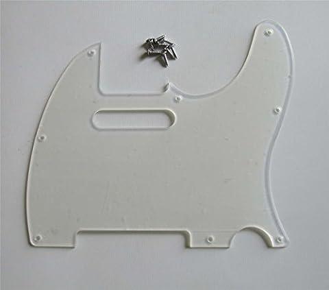 kaish klar Tele Gitarre Pickguard transparent Schlagbrett für Fender Telecaster