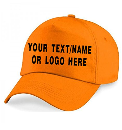 73f9b76c3cb Personalised Baseball caps Customised Adults Unisex Printed Caps Hats with  Text Name Logo (Orange