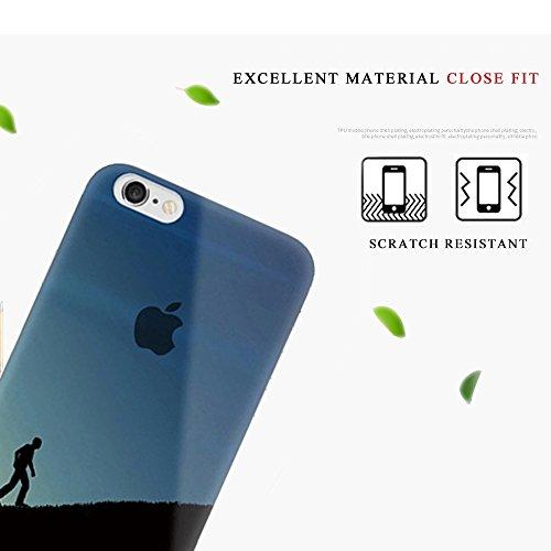 """Tsuger Custodia Morbido per Apple iPhone 6-4.7"""" Case Cavor plastica sottile Trasparente Chiaro TPU Silicone Gel Bumper + shell plastica PC Cassa Caso Protezione Cellulare Anti Scivolo Ammortizzante--i 30"""