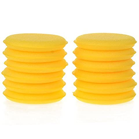 12x Da.Wa Waxing Polishing Foam Sponges Wax Applicator Cleaning Detailing Pads for Car