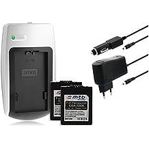 2x Batterie + Caricabatteria per Leica BP-DC5 / Panasonic S006 - Vedi lista di compatibilità