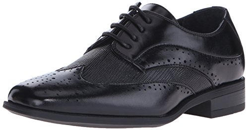 Stacy Adams Maximillian Boys Wingtip Oxford (Little Kid/Big Kid), Black, 12.5 M US Little Kid