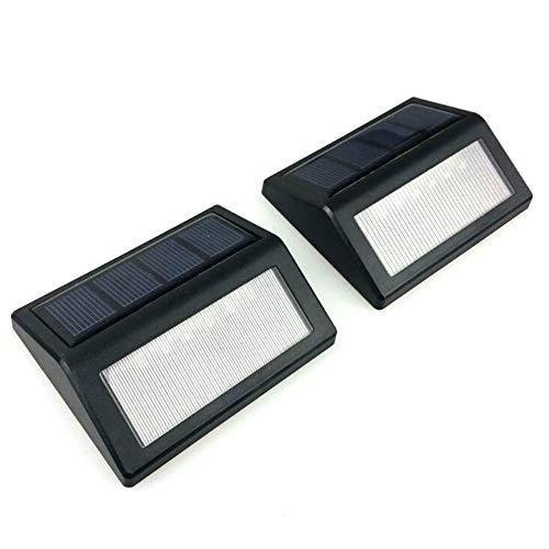 LIM Solarleuchten Außen, 6 LED Superhelles Solarlampen Wasserdichte Solarbetriebene Sicherheitswandleuchte Mit Beleuchtung Für Garten,Zaun, Garage, Auffahrt, Pfad, Innenhof Und Balkon (2 Pack)