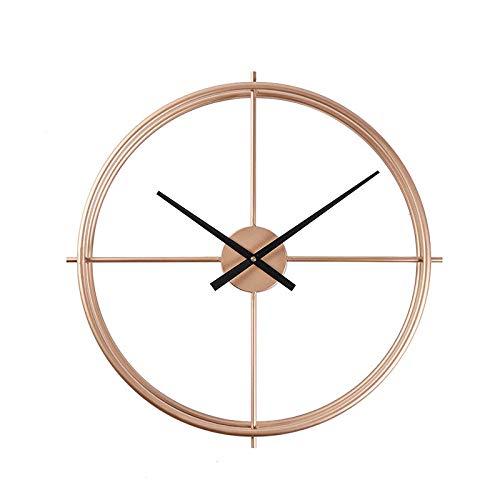 QXbecky Wanduhr kreative einfache mode schmiedeeisen handwerk uhr wanduhr wohnzimmer 40 cm 50 cm 60 cm gold 50 cm