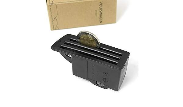 Original M/ünzbox Mittelkonsole M/ünzhalter Kleingeld Ablage Kartenhalter schwarz