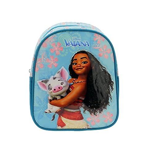 Vaiana - Petit sac à dos maternelle Vaiana avec Pua son cochon - Bleu, Taille Unique