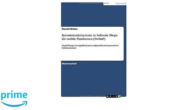 Recommendersysteme in Software Shops für mobile Plattformen (SwSmP