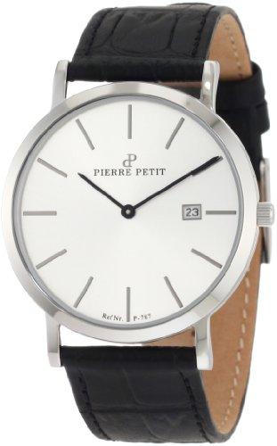 Pierre Petit - P-787B - Montre Mixte - Quartz Analogique - Bracelet Cuir Noir