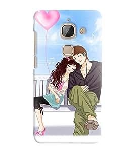 Printvisa Romantic Couple On A Bench Back Case Cover for LeEco Le 2::LeTV Le 2