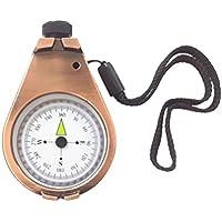 Vosarea Bronze Kompass Retro Tragbar Kompass mit Kette Camping Kompass Survival Werkzeug