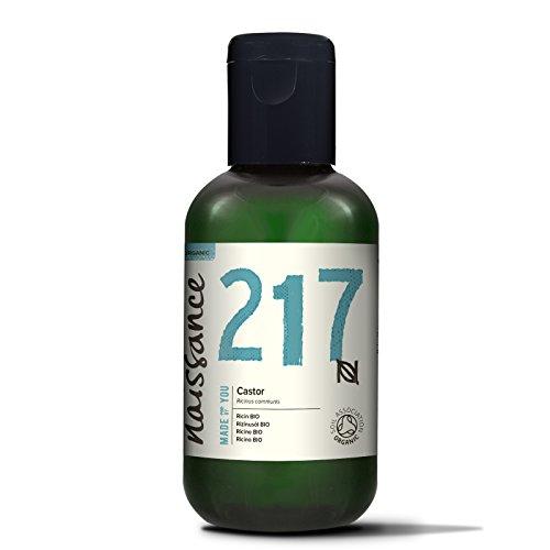 Naissance Rizinusöl BIO 100ml - reines, natürliches, BIO zertifiziertes, kaltgepresstes, veganes, hexanfreies, gentechnikfreies Öl - pflegt und spendet Feuchtigkeit für Haare, Wimpern und Augenbrauen