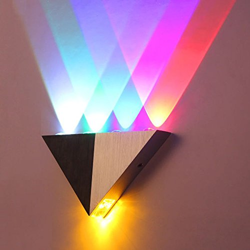 Citra Modern Triangle 5W LED Wall Sconce Light Fixture Indoor Hallway Up Down Wall Lamp Spot Light Aluminum Decorative Lighting for Theater Studio Restaurant Hotel (Multi-colored)