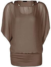 Fast Fashion Damen Oben Plus Size Klar Chiffon Doppel 2 In 1