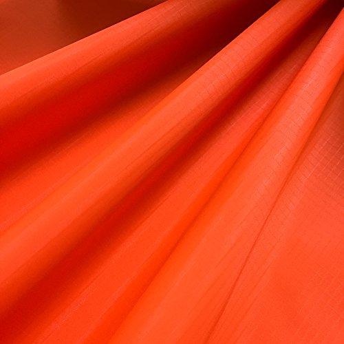 EMMAKITES Naranja fluorescente 1.69Oz tejido de nylon ripstop 152x91cm Resistente a los rayos UV Resistente al agua y suave a la PU Recubrimiento Excelente tela para cometas Skydancers Inflatalbes Lonas cubiertas Proyectos creativos por patio