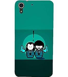 PrintDhaba LOVE GUNS D-6572 Back Case Cover for HTC DESIRE 728 (Multi-Coloured)
