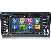 GPS DVD USB SD Navegador Bluetooth Radio 2Din Audi A3S32002–2011