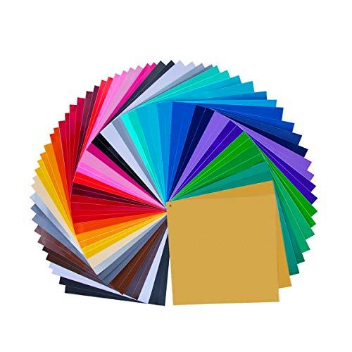 """68 Pack 12 """"X 12"""" Premium permanent selbstklebende Vinyl Platten-verschiedene Farben (32 Farbe)"""