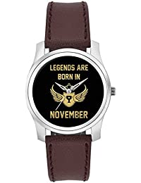 BigOwl Legends Are Born In November Birthday Gift For Him Fashion Watches For Girls - Awesome Gift For Daughter...