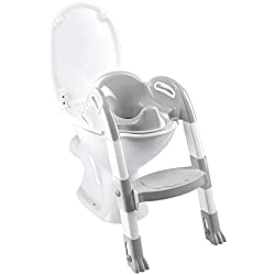 Thermobaby 2172587All Kiddy Loo Trainer pour toilettes Blanc/Gris