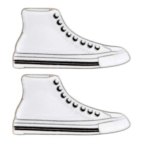 CoSunny Schuhe Revers Pin 2 Stück Set Sportschuhe Emaille Brosche Pins Abzeichen Kleidung Zubehör Geschenke
