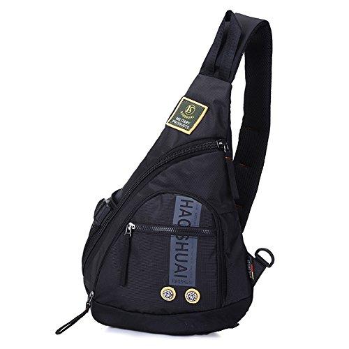 Sling Rucksack HOMEFEEL Freizeit Sling Bag Schulterrucksack Crossbag Umhängetasche Daypack mit Verstellbarem Gurt für Outdoorsport, Wandern, Radfahren, Bergsteigen, Reisen,Schule
