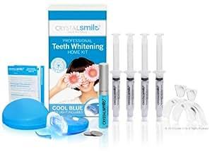 Kit maison de blanchiment avancé des dents Crystal Smile Autorisé par l'UE et le Royaume-Uni. PEROXIDE FREE - Gel professionnel haut de gamme sans peroxyde - Tous les produits sont fabriqués aux États-Unis