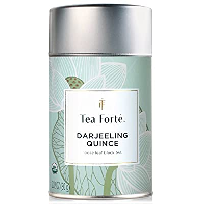 Tea Forte Lotus Darjeeling Quince thé Noir Bio - Organic Loose Leaf Black Tea, 2.82 Ounce Tea Tin by Tea Forté