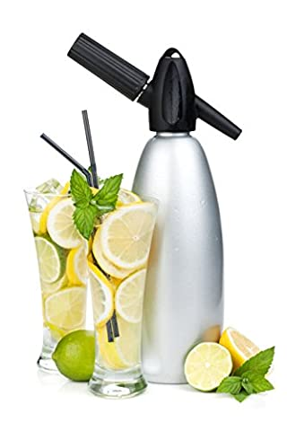 Professional Soda Siphon and Seltzer Water Maker (1 Pint/1L) with