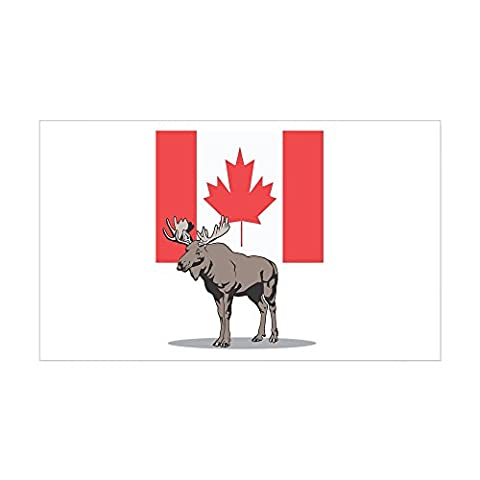 CafePress - Canadian Flag With Moose Rectangle Sticker - Rectangle Bumper Sticker Car Decal