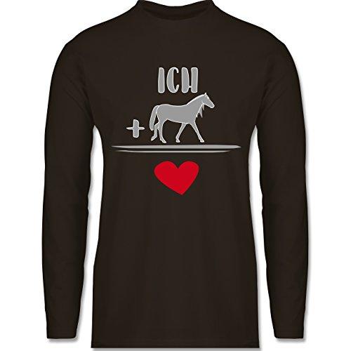 Shirtracer Pferde - Pferde-Liebe - Herren Langarmshirt Braun