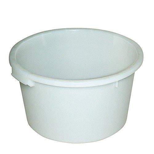 Rundbehälter 60 Liter, lebensmittelecht, naturweiß